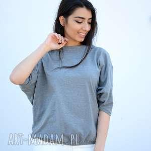 bluzki lekka bawełniana bluzka nietoperz, luźny