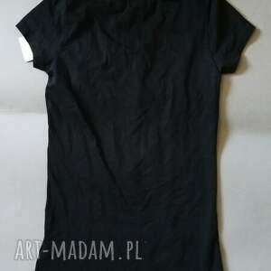 bluzki: T shirt z pająkami nadruk autorski S - lato bluzka