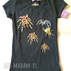 Ruda Klara bluzki: T shirt z pająkami nadruk autorski S - lato pająki