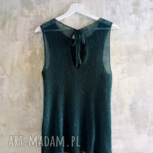 The Wool Art ręcznie zrobione bluzki top letnia bluzka, top kid mohair