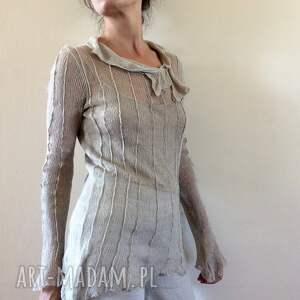 oryginalne bluzki bluzka transparentna lniana