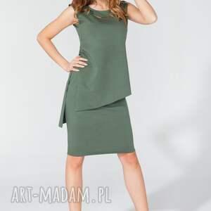 handmade bluzki elegancka tunika t116 kolor zielony - tessita