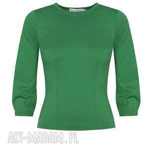 ręczne wykonanie bluzki kasiamiciak zielona bluzka