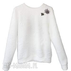 hand-made bluzy bluza-sportowa biała bluza white wild