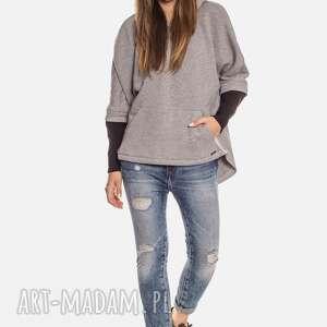 bluzy: Bien Fashion Luźna ciepła bluza kangurka z kapturem - streetfashion