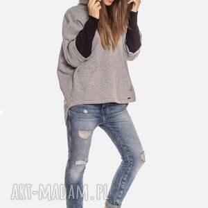 bluzy: Bien Fashion Luźna ciepła bluza kangurka z kapturem - streetfashion oversize