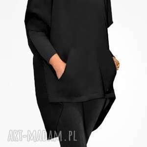 bluzy oversize bien fashion czarna bluza damska