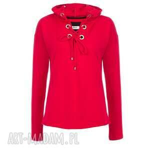 hoodie bluzy czerwone bien fashion bluza damska