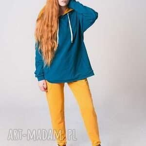 wyjątkowe bluzy moda blouse damska zieleń morska