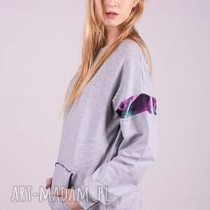 bluzy bluza damska basic szara
