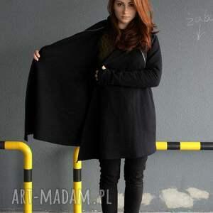 gustowne bluzy bluza damska czarna asymetryczna