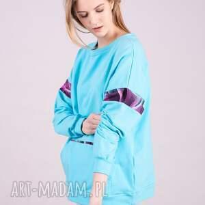 atrakcyjne bluzy bluza damska basic niebieska