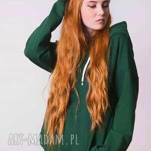 bluzy bawełna bluza damska zielona butelka