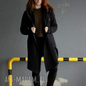 płaszcz bluzy bluza damska czarna asymetryczna