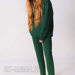 bawełna bluzy pomarańczowe bluza damska zielona butelka