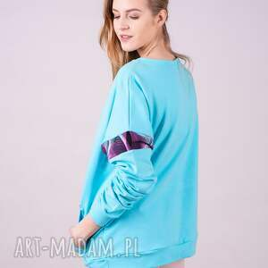 różowe bluzy spodnie bluza damska basic niebieska