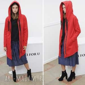 TrzyForU bluzy: Bluza Damska na zamek czerwona - Hand Made styl
