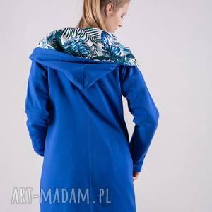 bluzy niebieskie bluza damska rozpinana na zamek
