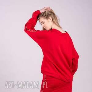 bluzy t shirty bluza damska czarwona kleopatra