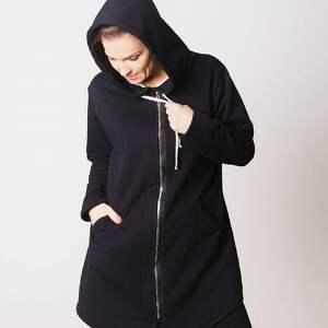 TrzyForU szare bluzy wygoda bluza damska na zamek czarna