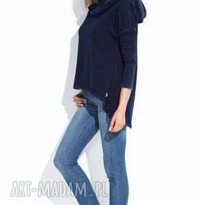 bluzy z kapturem bluza damska granatowa z