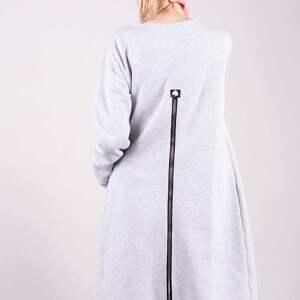 wyraziste bluzy kurtka bluza długa margos szara