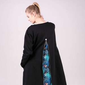 bluza długa margos czarna kurtka