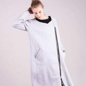 kurtka bluzy bluza długa margos szara