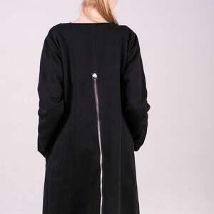 bluzy kurtka bluza długa margos czarna