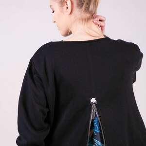 bluza długa margos czarna sukienki