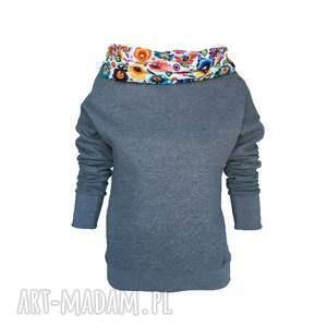 bluzy motyw łowicki bluza dresowa z motywem folkowym