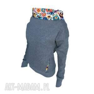 motyw łowicki oto cieplutka bluza z grubej, cieplutkiej