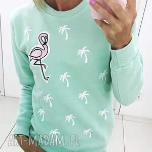 bluzy lato bluza palms and flamingo