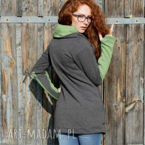 szare bluzy damskie bluza ragini ze stójką