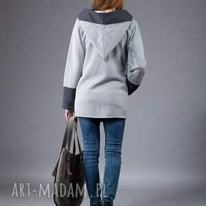 bluzy bluza na zamek saloni long z kapturem