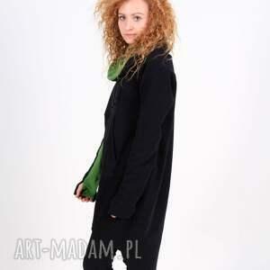 czarne bluzy bluza / tunika sukienka ma asymetryczną