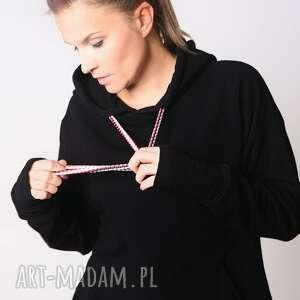 frapujące bluzy bawełna bluza z kapturem czarna