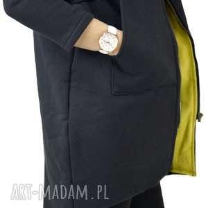 eleganckie bluzy długi-z-kapturem bluza z kapturem saloni zip