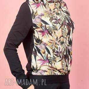 nietuzinkowe bluzy bluza w-kwiaty z kominem