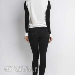 białe bluzy bluzka bluzka, blu012 ecru