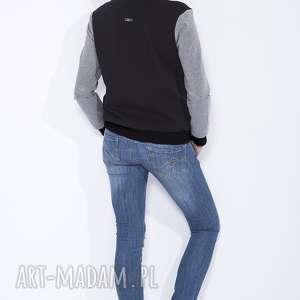 niebanalne bluzy bejsbolówka czarna bluza damska