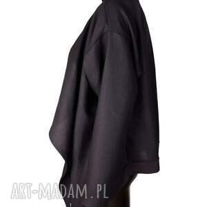 bluzy wełniana czarna narzutka z wełny