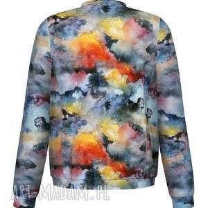 eleganckie bluzy bawełniana damska bomberka w rozmyte, rozlane