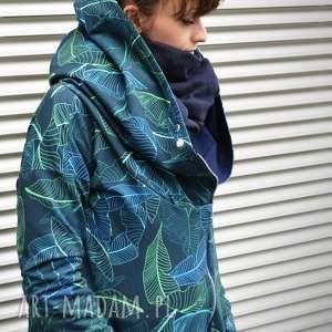 kurtka z-kapturem bluzy długa bluza oversize z motywem