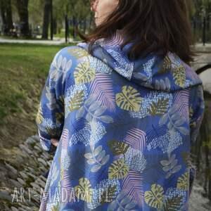 bluzy na lato długa bluza oversize w liście