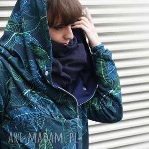 bluza-dresowa bluzy turkusowe długa bluza oversize z motywem