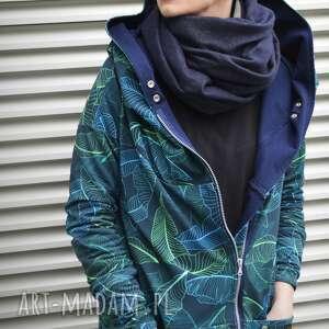 bluzy tropikalny-wzór długa bluza oversize z motywem