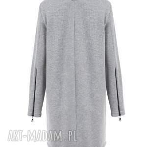 handmade bluzy rozpinana długa czarna bluza damska