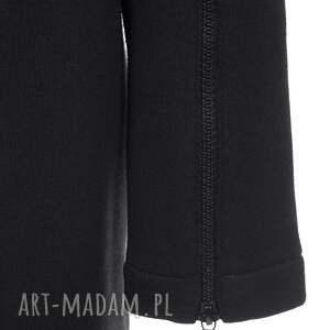 bluzy rozpinana długa czarna bluza damska