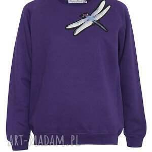 bluzy bluza fioletowa z ważką